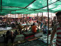 The Wednesday market in Anjuna.