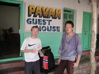 My friends Henning and Markus from Norway. We met on the bus on the way here, at the Pavan Guesthouse. Great place and it had a
