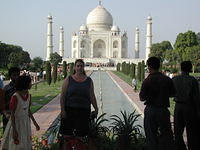 Great Taj Mahal photo with Andrea, my good friend who lives in Halifax, Canada. She was visting me during my travels and came fr