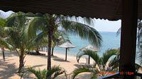 View from our balcony at Berjaya Resort. Right on the beach!
